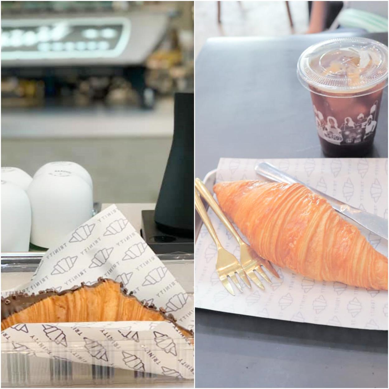 คาเฟ่เด็ดๆ Trinity cafe เบเกอรี่หอมอร่อย พวกครัวซองคือดีีียยย์ พนังงานก็บริการดีเอาใจใส่มากๆแล้วยังได้มุมถ่ายรูปเพียบบ